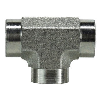 3/8 in. Female Pipe Tee Steel Pipe Fitting & Hydraulic Adapter