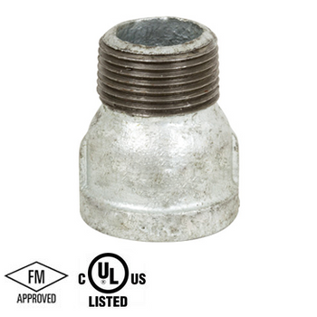 2 in. Malleable Iron 150# Galvanized Threaded Extension Piece, UL/FM