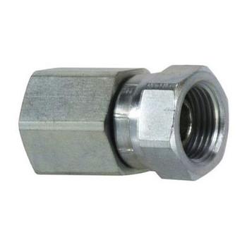 1 in. Female NPT x 3/4 in. Female NPSM Steel Pipe Swivel Adapter