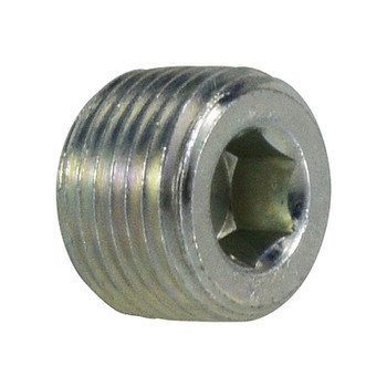 1/2 in. Hollow Hex Plug Steel Pipe Fitting