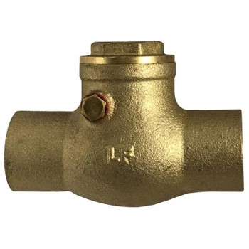 1 in. 200WOG, CxC, Swing Check Valve Valve, Lead Free Brass