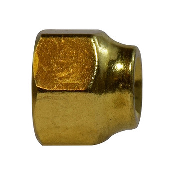 3/8 in. Female x 5/16 in. OD, Forged Reducing Nut, SAE 45 Degree Flare Brass Fitting