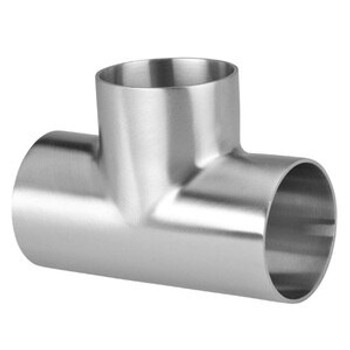 4 in. Polished Short Weld Tee (7WWW) 316L Stainless Steel Sanitary Butt Weld Fitting (3-A)