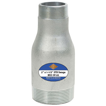2-1/2 in. x 1-1/2 in. Swage Nipples, Schedule 40 NPT Threaded, Zinc Electroplated