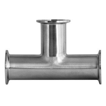 2-1/2 in. Clamp Tee - 7MP - 304 Stainless Steel Sanitary Fitting (3-A) View 2