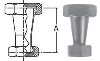 2-1/2 in. x 1-1/2 in. 31-14F Concentric Taper Reducer (3A) 304 Stainless Steel Sanitary Fitting