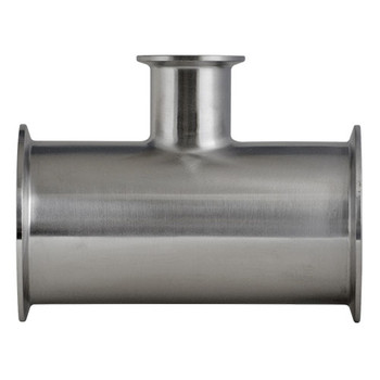 4 in. x 1 in. 7RMP Reducing (On Branch) Tee 304 Stainless Steel Sanitary Fitting