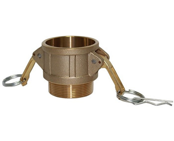 2 in. Type B Coupler Brass Cam and Groove Female Coupler x Male NPT Thread