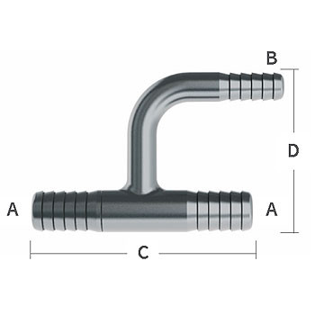 3/8 in. x 1/4 in. Reducing (On 1 Barb) Y-Tee Reducer 304 Stainless Steel Beverage Fitting (Economy)