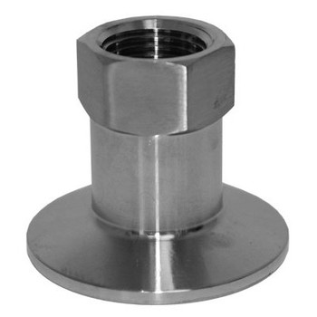 1.5 Tri Clamp x 1 in. Female Thread, 304 Stainless Steel Tri-Clamp Fittings x FNPT
