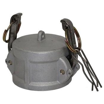 4 in. Type DC Dust Cap Aluminum Female End Coupler, Cam & Groove/Camlock Fitting