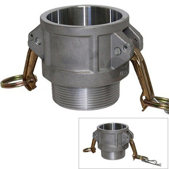 2 in. Type B Coupler Aluminum Female Coupler x Male NPT Thread, Cam & Groove/Camlock Fitting