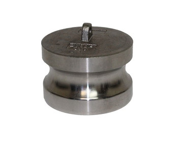 1 in. Type DP Dust Plug 316 Stainless Steel Camlocks (Male End Adapter)