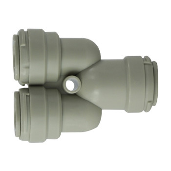 3/8 in. Tube OD 2-Way Divider, Plastic Push In Tube Fitting