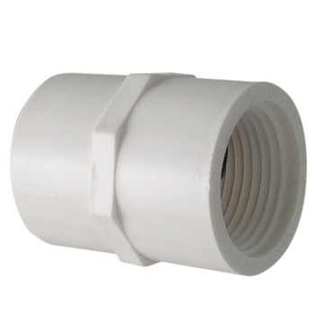 1-1/2 in. PVC Slip x FIP Adapter, PVC Schedule 40 Pipe Fitting, NSF 61 Certified