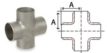 4 in. Butt Weld Cross Sch 10, 304/304L Stainless Steel Butt Weld Pipe Fittings