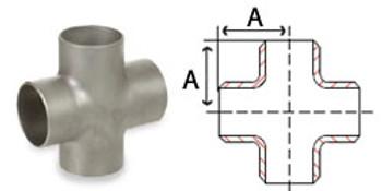 4 in. Butt Weld Cross Sch 10, 304/304L Stainless Steel Butt Weld Pipe Fittings
