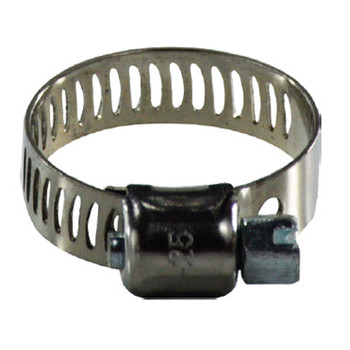#8 Miniature Worm Gear Hose Clamp, 316 Stainless Steel, 5/16 in. Wide Band Hose Clamps, 325 Series