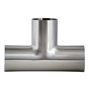 4 in. Unpolished Long Weld Tee (7W-UNPOL) 304 Stainless Steel Tube OD Buttweld Fitting View 2