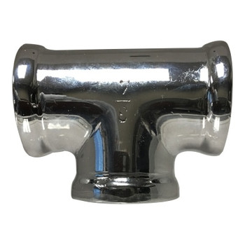 1/2 in. Tee Chrome Plated Lead Free Brass Pipe Fitting, AB 1953