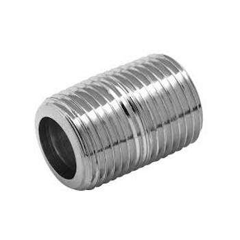 1/4 in. x 1/4 in. Threaded NPT Close Nipple 316 Stainless Steel High Pressure Fittings PSIG=7500
