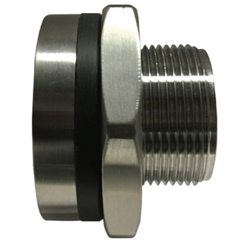 1 in. Bulkhead Coupling, 1450-2175 PSI, NPT Threaded, 316 Stainless Steel Bulkhead Fitting