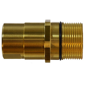 1/2 in. Female NPT Wingnut Thread to Connect Drybreak Coupler Nipple Material: Steel Body: 3/4 in.