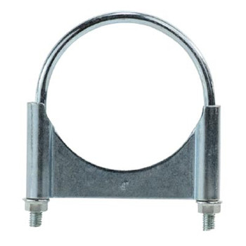 5 in. Guillotine Style U-Bolt Muffler Hose Clamps, Zinc Plated Carbon Steel Corrosion Resistant, Complete 360 Deg. Heavy Duty Seal