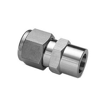 1/4 in. Tube x 1/4 in. Socket Weld Union 316 Stainless Steel Fittings Tube/Compression