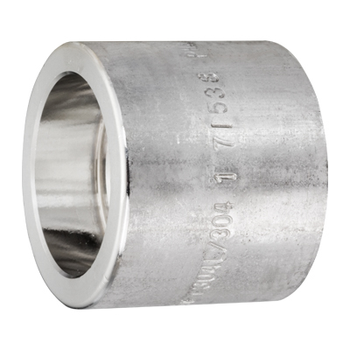 2-1/2 in. Socket Weld Full Coupling 304/304L 3000LB Forged Stainless Steel Pipe Fitting