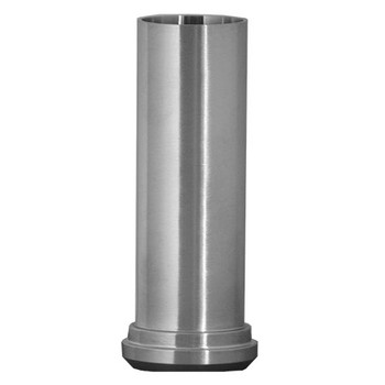 2-1/2 in. 14AHT Tygon Hose Adapter (Bevel Seat Plain End x Long Weld End) (3A) 304 Stainless Steel Sanitary Fitting