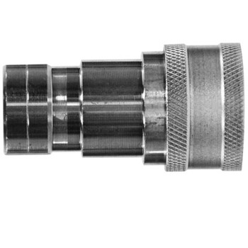 1/4 in. ISO-B Female Pipe Coupler Quick Disconnect Hydraulic Adapter Steel