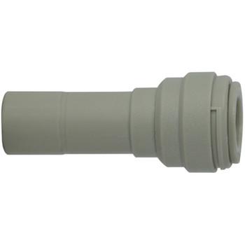 1/2 in. Tube OD x 3/8 in. Tube OD Plastic Stem x Push In Reducer, Polypropylene Push In Tube Fitting