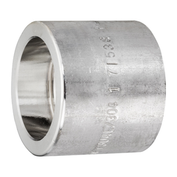 1 in. x 3/8 in. Socket Weld Reducing Coupling 304/304L 3000LB Forged Stainless Steel Pipe Fitting