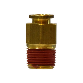 1/2 in. Tube OD x 3/8 in. Male NPTF Thread, Push-In Male Connector, Brass Push-to-Connect Tube Fitting