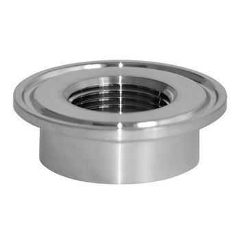 1 in. 23BMP Thermometer Cap (1/2 in. Tapped FNPT) 304 Stainless Steel Sanitary Clamp Fitting (3A) Side View 1