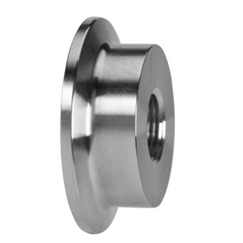 1 in. 23BMP Thermometer Cap (1/2 in. Tapped FNPT) 304 Stainless Steel Sanitary Clamp Fitting (3A) Side View 2
