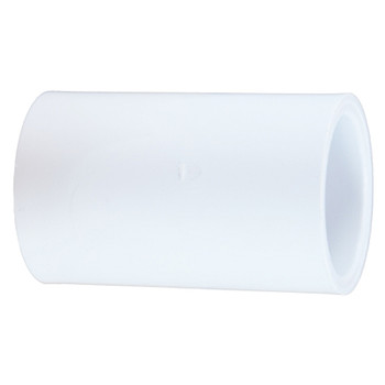 1-1/4 in. PVC Slip Coupling, PVC Schedule 40 Pipe Fitting, NSF 61 Certified