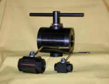 1 in. 2-way Ball Valve, 6000 PSI steel square body, unrestricted full bore (1.00 in.)