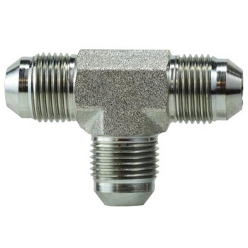 5/16-24 JIC 1 & 2 x 5/16-24 JIC 3 Steel Union Tee Hydraulic Adapter & Fitting