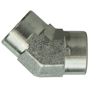 3/8 in. x 3/8 in. Female Elbow, 45 Degree, Steel Pipe Fitting Hydraulic Adapter