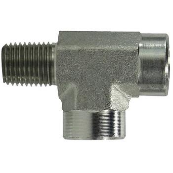 3/8 in. x 3/8 in. Street Pipe Tee Steel Pipe Fittings & Hydraulic Adapter