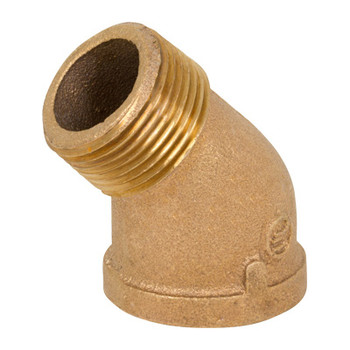 3/4 in. Threaded NPT 45 Degree Street Elbow, 125 PSI, Lead Free Brass Pipe Fitting