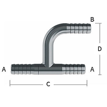 3/8 in. Y-Tee 303/304 Combination Stainless Steel Beverage Fitting
