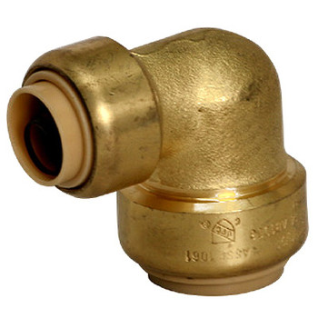 3/4 in. x 1/2 in. Reducing Elbow QuickBite (TM) Push-to-Connect/Press On Fitting, Lead Free Brass (Disconnect Tool Included)