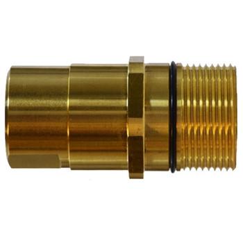 1 in. Female NPT Wingnut Thread to Connect Drybreak Coupler Nipple Material: Steel Body: 1 in.