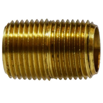 1/8 in. Close Pipe Nipple, NPTF Threads, 1200 PSI Max, Brass, Pipe Nipple