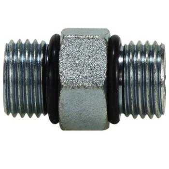 9/16-18 O-Ring Hex Nipple Union Steel Hydraulic Adapters