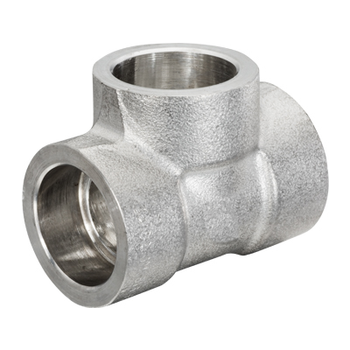 2-1/2 in. Socket Weld Tee 304/304L 3000LB Forged Stainless Steel Pipe Fitting