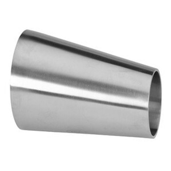 """2"""" x 1-1/2"""" Polished Eccentric Weld Reducer (32W) 304 Stainless Steel Butt Weld Sanitary Fitting (3-A)"""